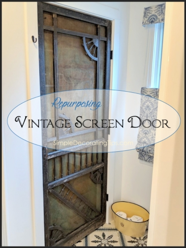 Repurposing Vintage Screen Door