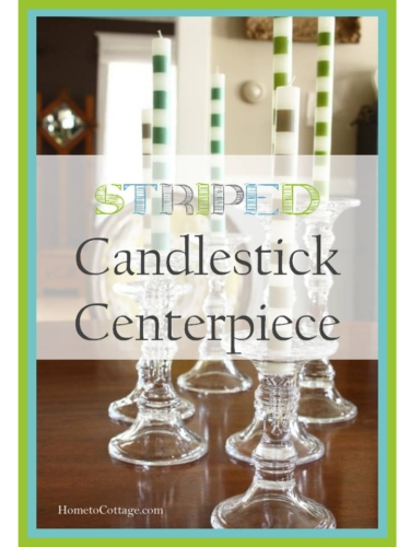 Striped Candlestick Centerpiece title page