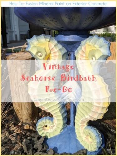 Vintage-Seahorse-Birdbath-Re-Do