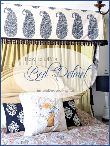 DIY Bed Pelmet