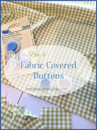Fabric Covered Buttons DIY