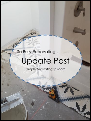 SimpleDecoratingTips.com Renovating Update Post