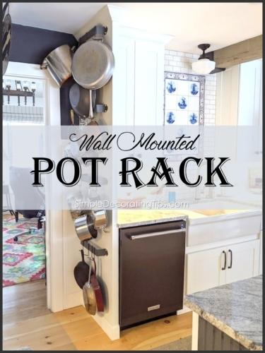 Wall Mounted Pot Rack SimpleDecoratingTips.com