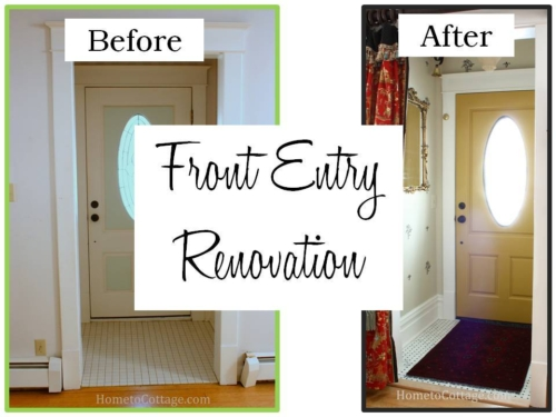 100 year old house entry renovation