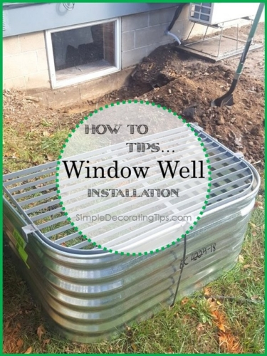 DIY Window Well Installation