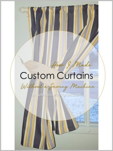 How I Made Curtains without a Sewing Machine