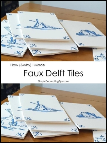 How  Why I Made Faux Delft Tiles