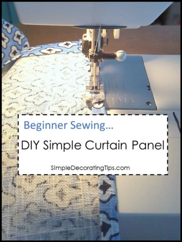 DIY Simple Curtain Panel