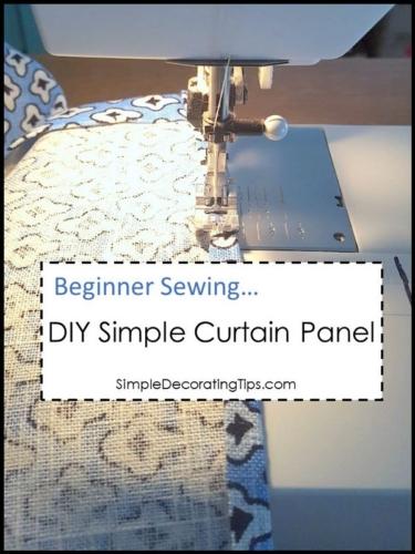 DIY Simple Curtain Panel