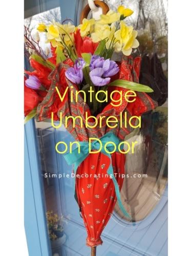 Vintage Umbrella on Front Door