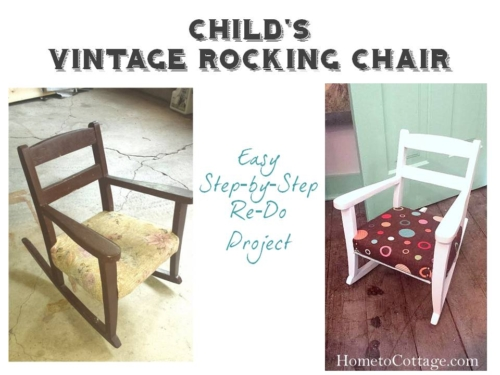 Before and After Kid's Rocking Chair Redo