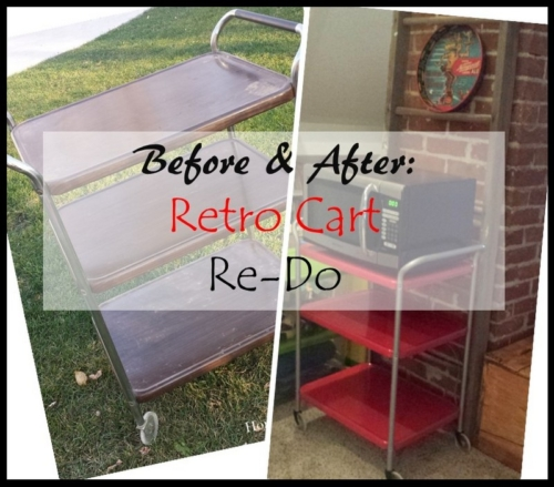 Before and After Retro Cart Re-Do