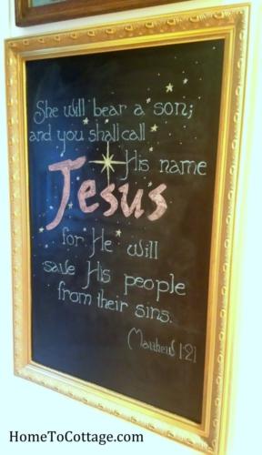 Christmas chalkboard 2014