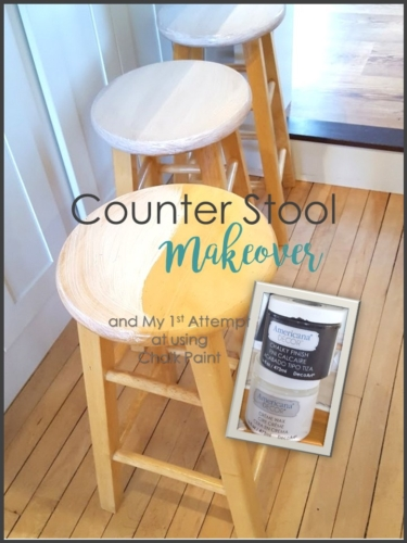 Counter stool makeover and my 1st attempt at chalk paint