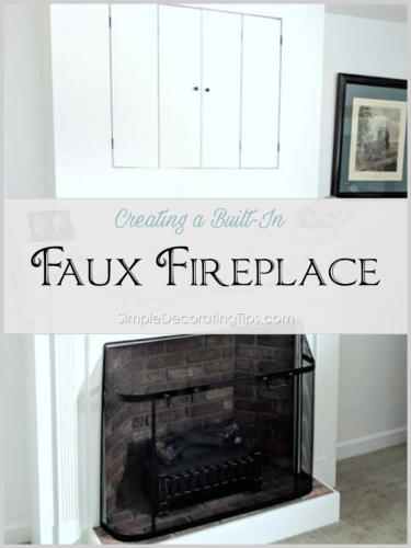 Creating a Built-In Faux Fireplace