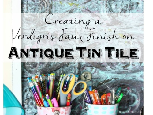 Creating a New Faux Finish on Antique Tin Tile
