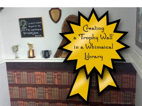 Creating a Trophy Wall in a Whimsical Library