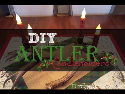 DIY Antler Candleholders
