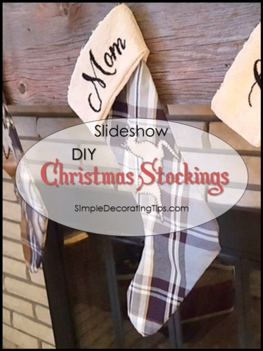 DIY Christmas Stockings
