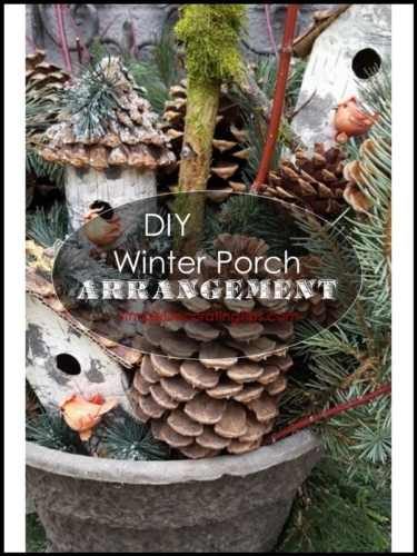 DIY Winter Porch Arrangement