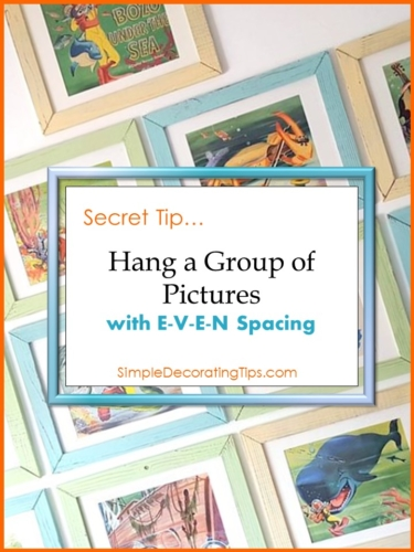 Hang a Group of Pictures with even spacing
