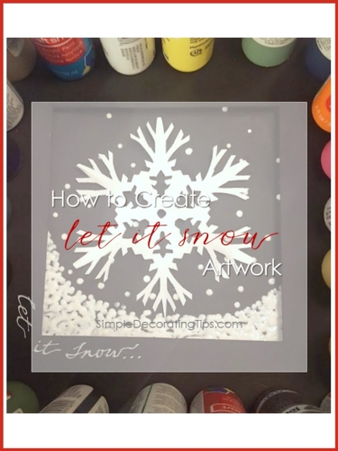 How to Create Let it Snow Artwork