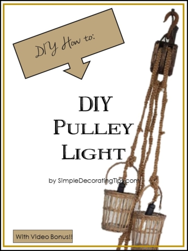 DIY Macrame Pulley Light