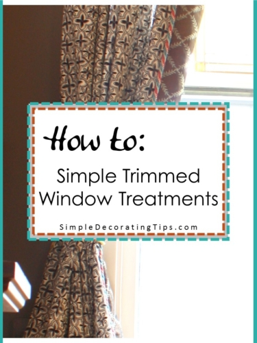 How to Simple Trimmed Window Treatments feature image with sides
