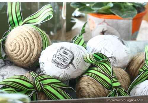 Jute Wrapped Easter Eggs