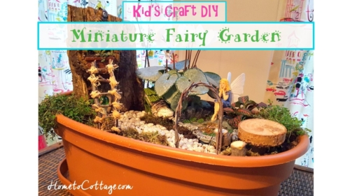 Kid's Craft DIY Miniature Fairy Garden