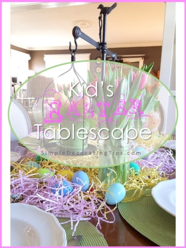 Kid's Easter Tablescape