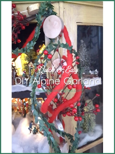 Quick and Easy DIY Alpine Garland