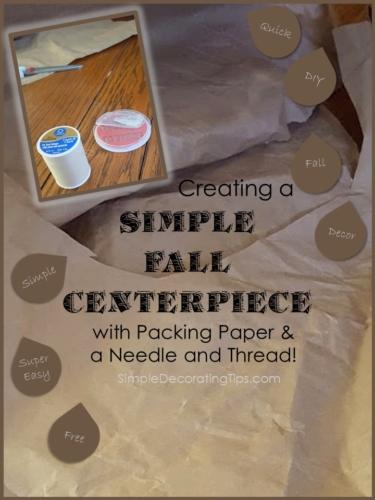 Simple Fall Centerpiece