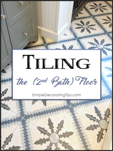 Tiling the 2nd bath floor