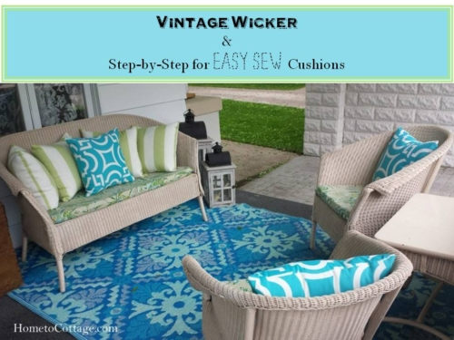 Vintage Wicker and Step by Step for Easy Sew Cushions