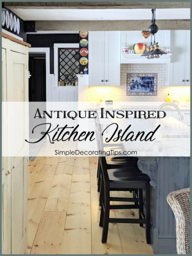antique inspiried kitchen island