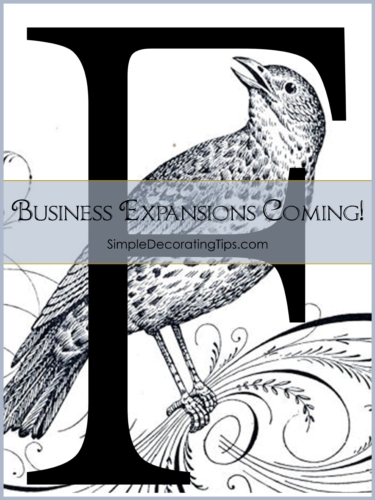 Business Expansions are Coming Frame and Frills