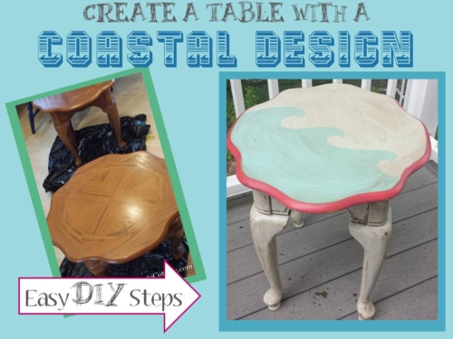 DIY Table with a Coastal Design