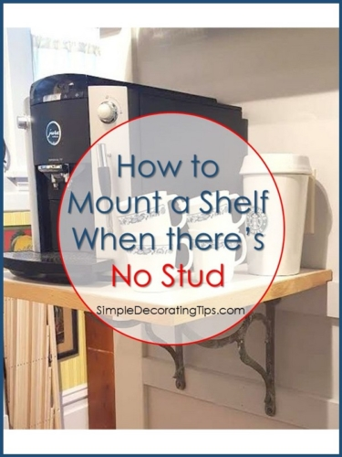 how to mount a shelf when there's no stud