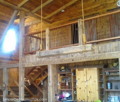 interior of 7 barn house