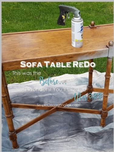 sofa table redo before and after