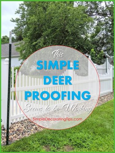 Simple Deer Proofing Fence