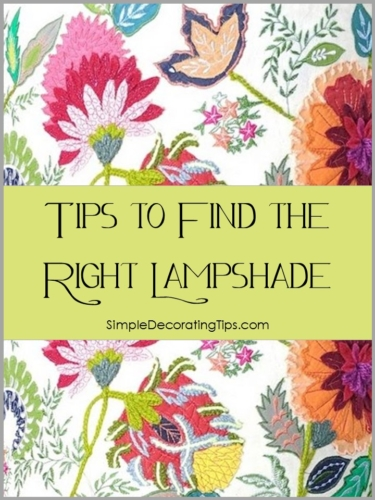 tips to find the right lampshade