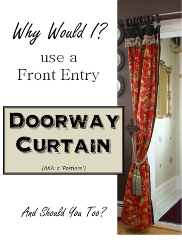 Front Entry Doorway Curtain